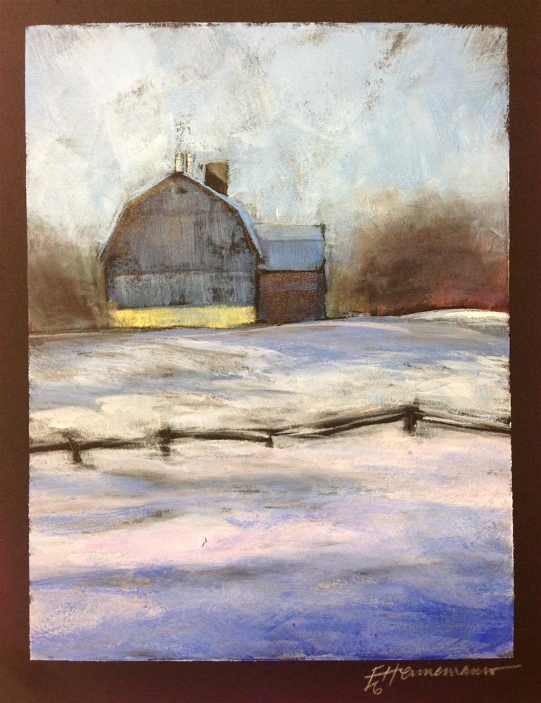 """Barn in Passing"" original fine art by Eileen Hennemann"