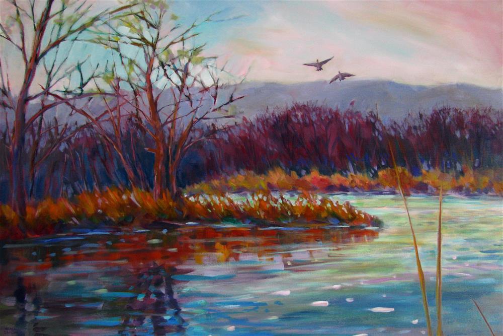 """Marsh Magic"" original fine art by Melissa Gannon"