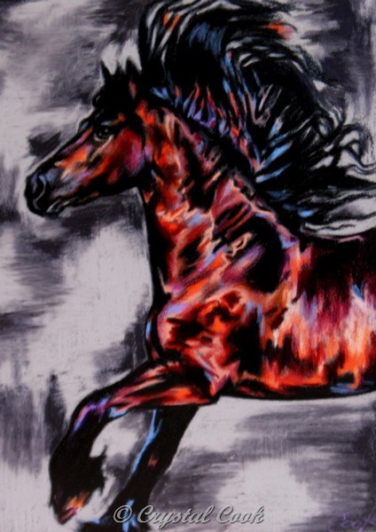 """Friesian in Technicolor"" original fine art by Crystal Cook"