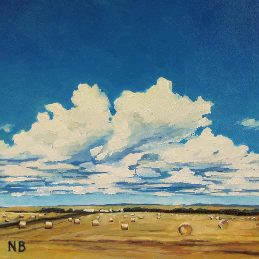 """August"" original fine art by Nora Bergman"