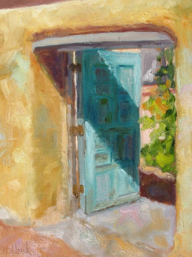 """""""Let's Peek Inside!"""" original fine art by Pam Holnback"""