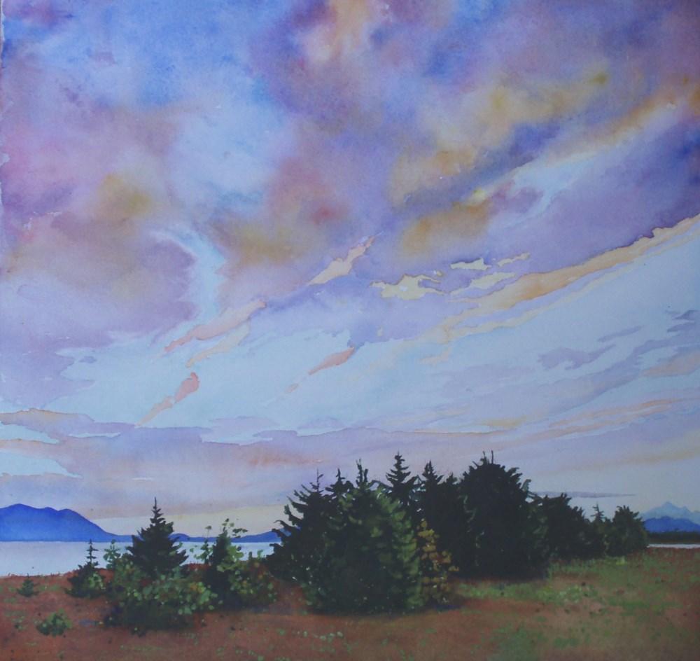 """""""Sunset at the Beach"""" original fine art by Carole Baker"""