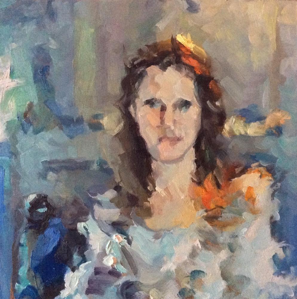 """Artist Self Portrait"" original fine art by Paula Howson-Green"