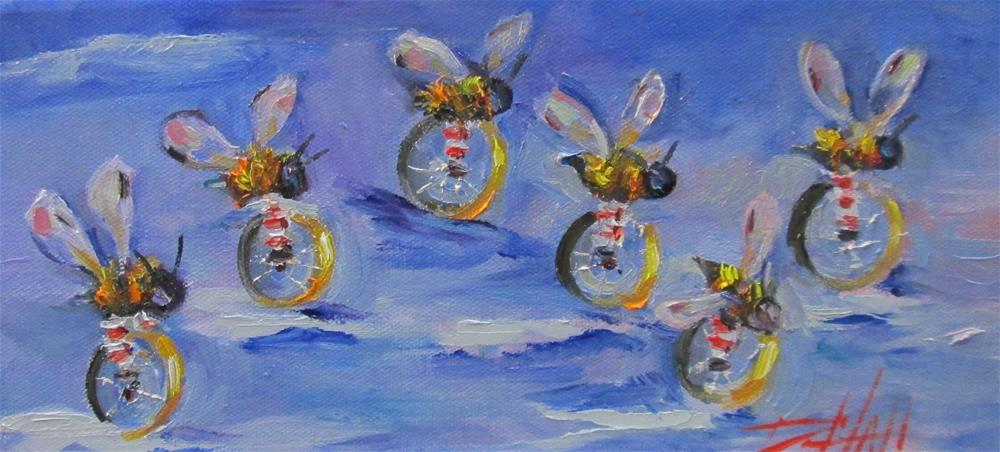 """The Race is On"" original fine art by Delilah Smith"