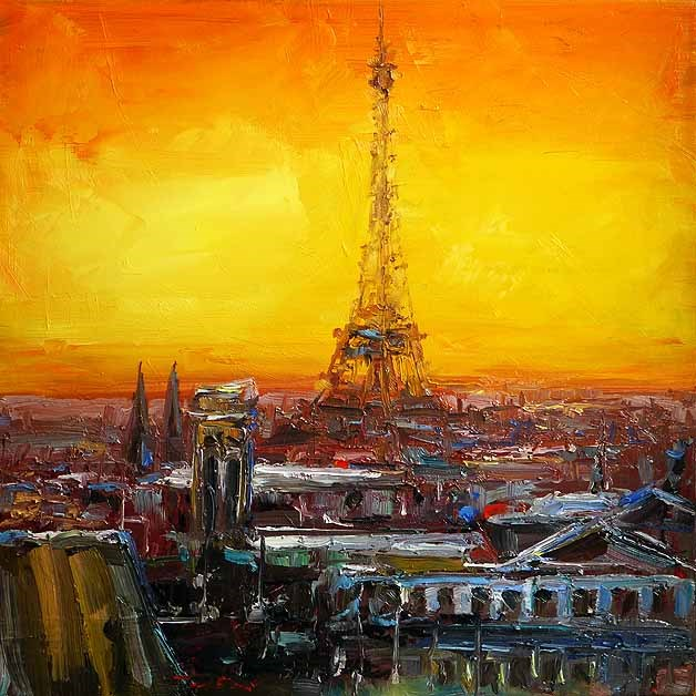 """Paris"" original fine art by Jurij Frey"