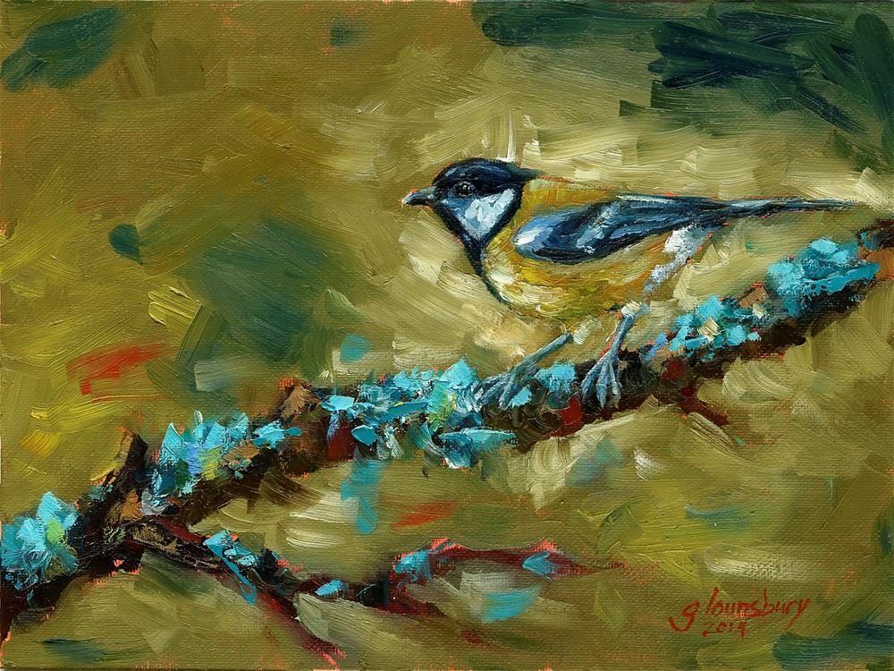 """Blue Moxie"" original fine art by Grant Lounsbury"