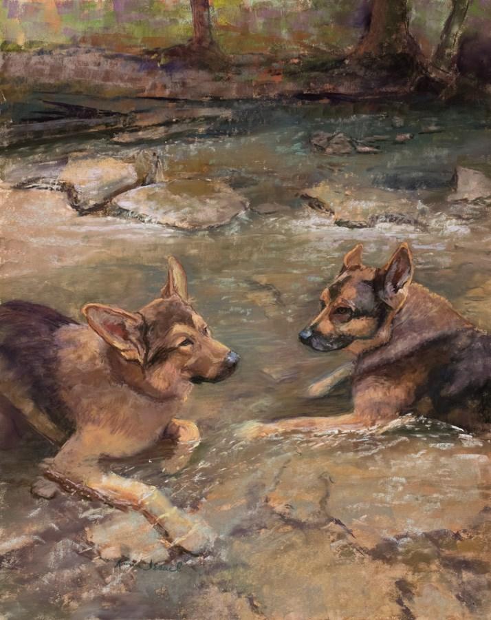 """The Stream Kings"" original fine art by karen israel"