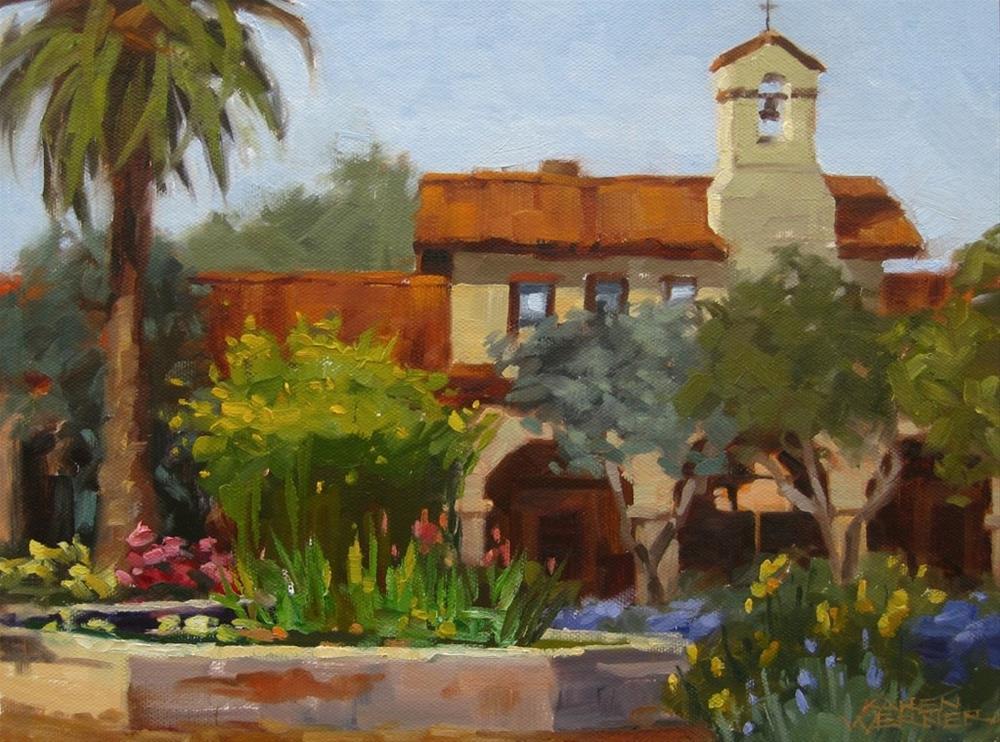 """""""Spring Fountain"""" original fine art by Karen Werner"""