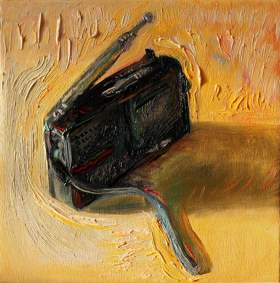 """""""Old Radio"""" original fine art by Anna Fine Art"""