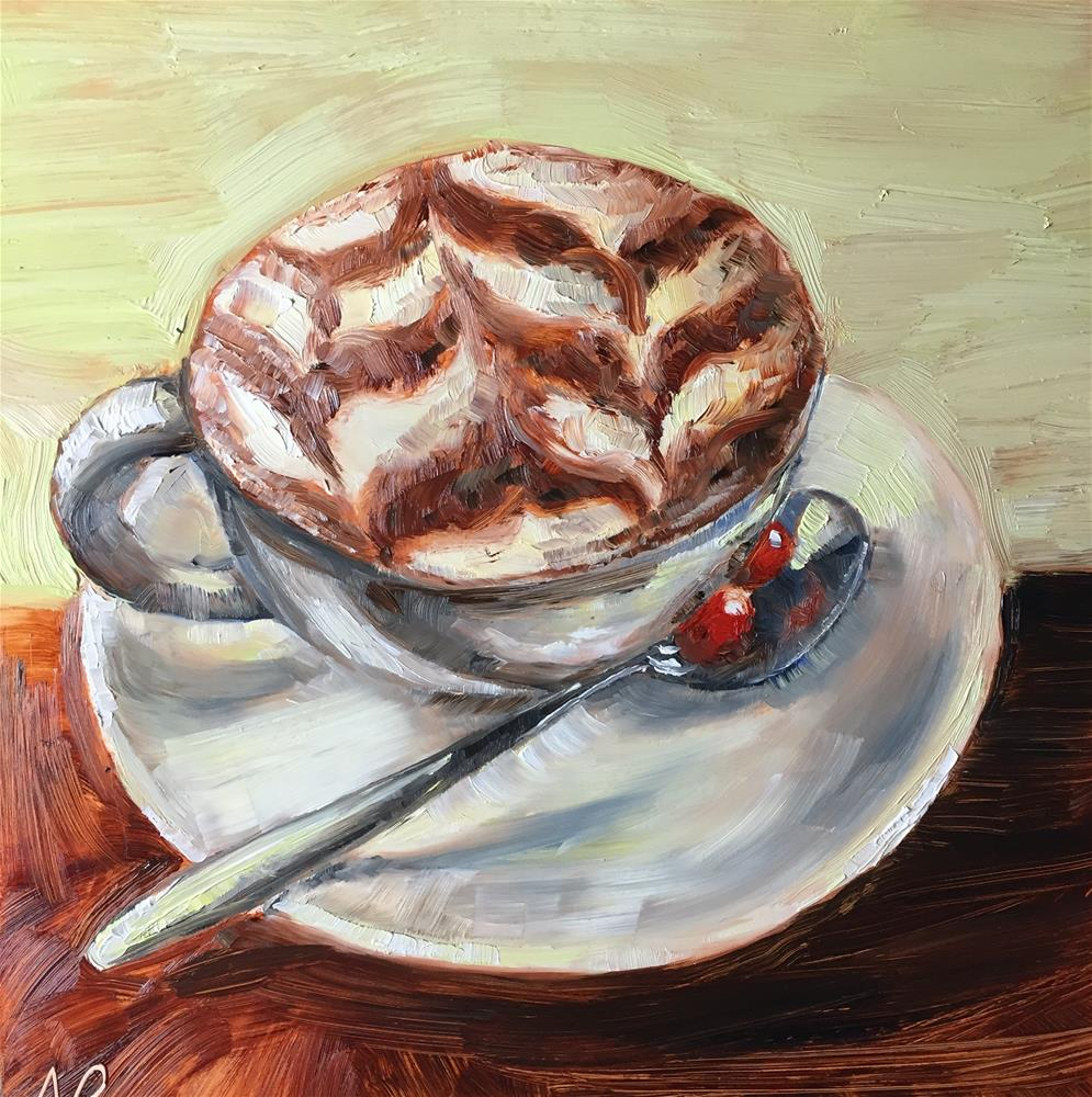 """Morning cup"" original fine art by Natasha Ramras"