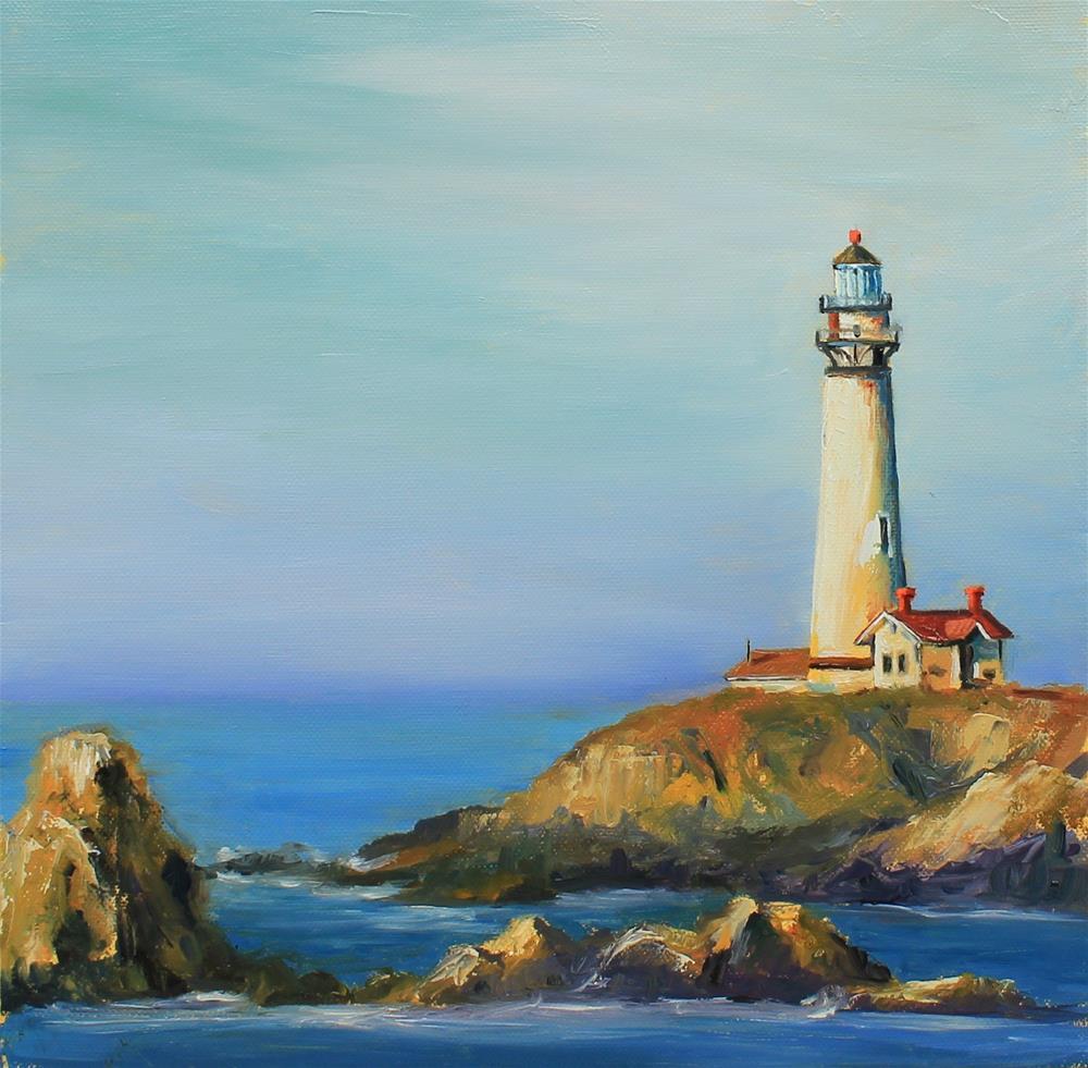 """""""Lighthouse"""" original fine art by Marco Vazquez"""