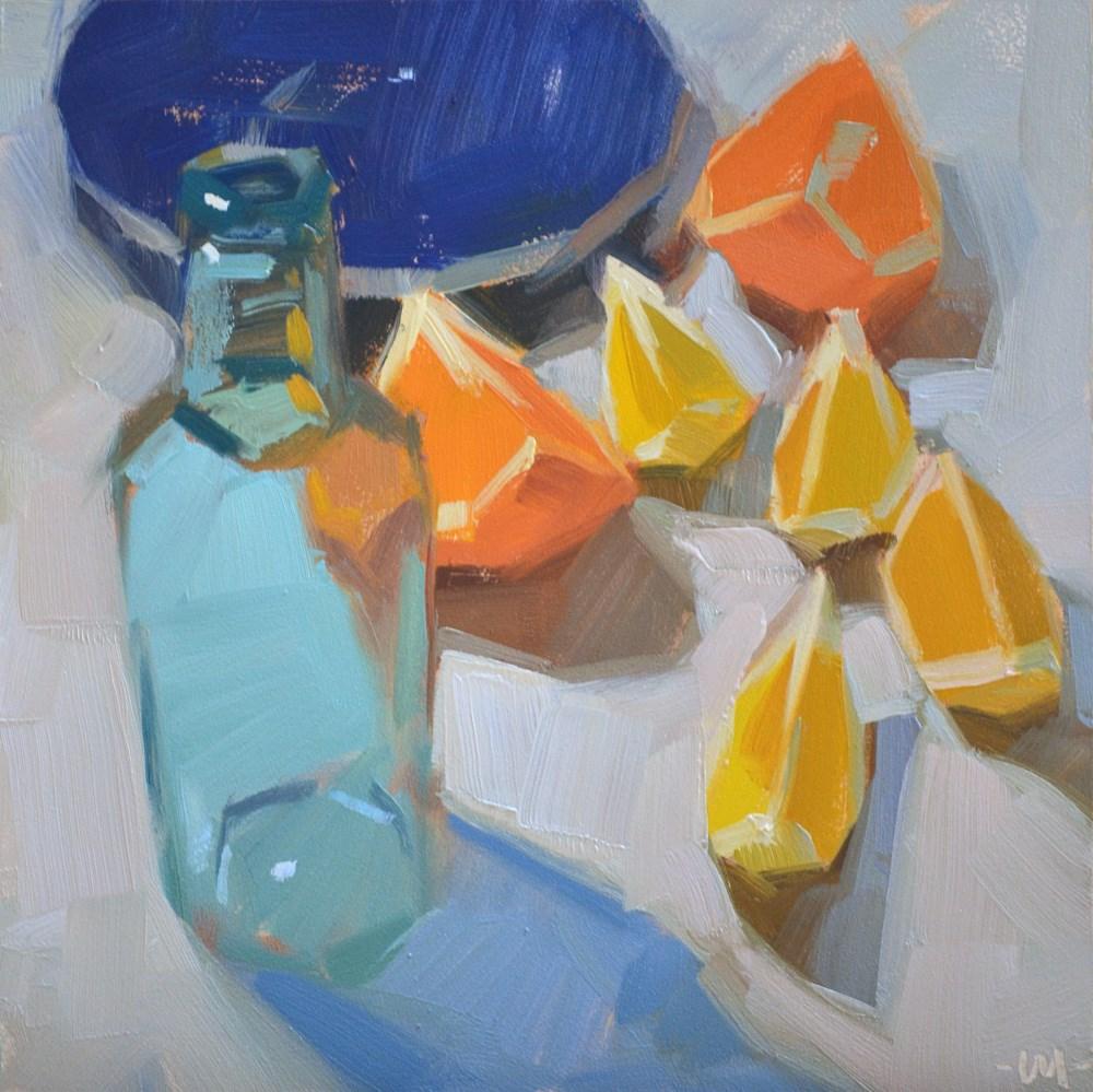 """Delicious Citrus"" original fine art by Carol Marine"