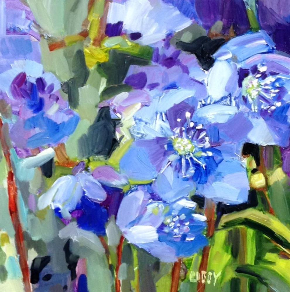 """Meander Blue"" original fine art by Libby Anderson"