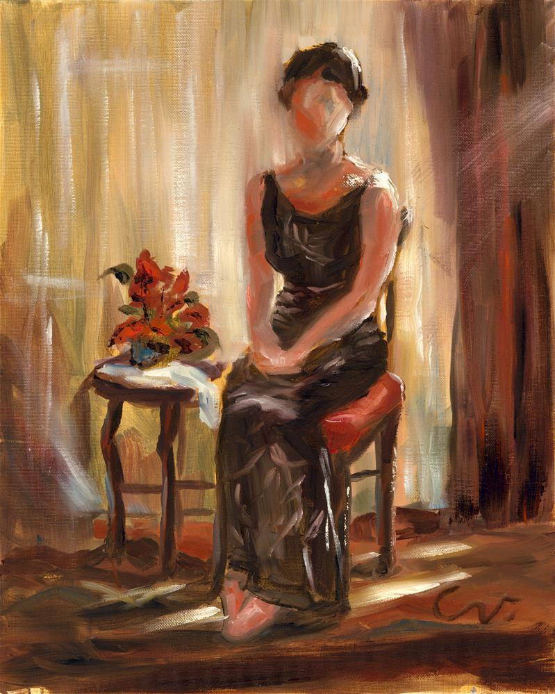"""Waiting..."" original fine art by Sharon Abbott-Furze"