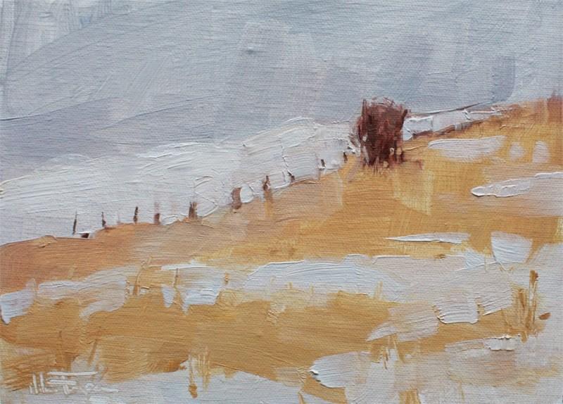 """Follow the Fence Line"" original fine art by Melanie Thompson"