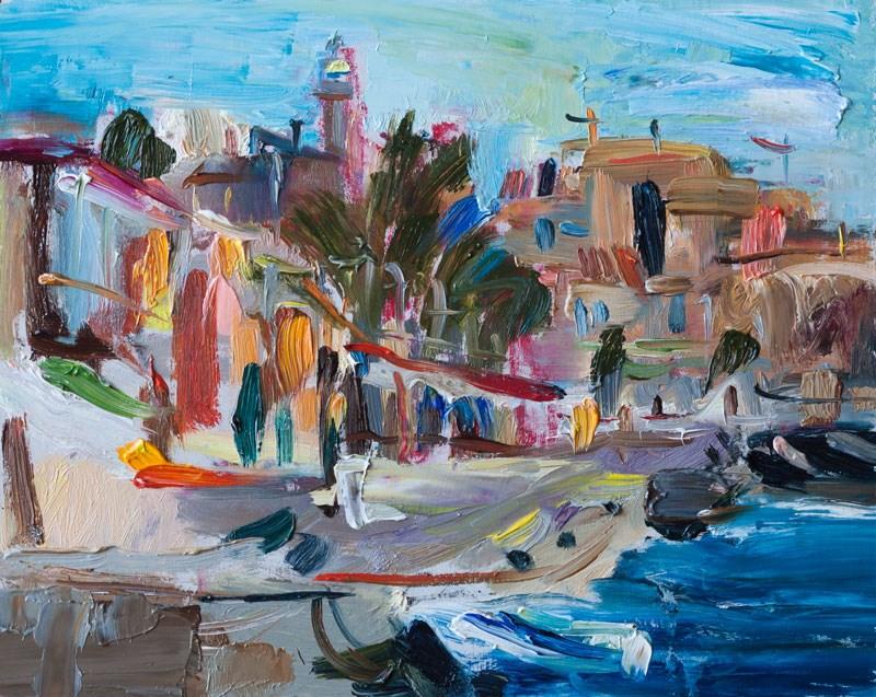 """Windy Blue Morning"" original fine art by Anna Fine Art"
