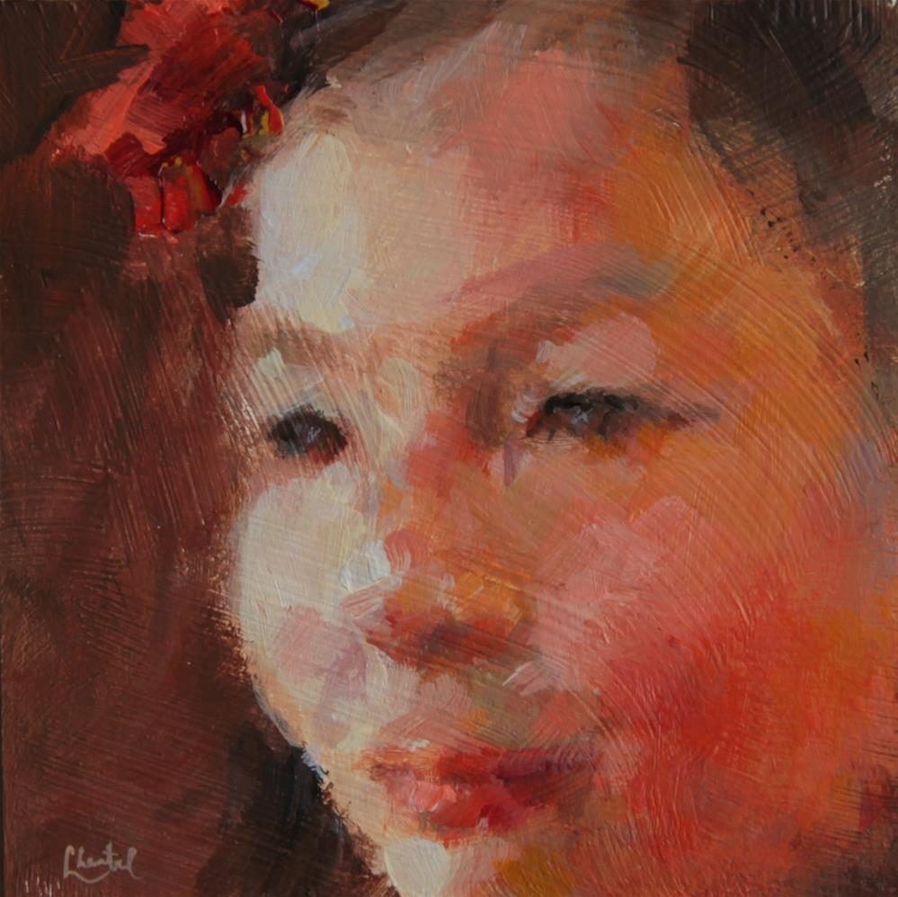 """""""The Red Hair Bow"""" original fine art by Chantel Barber"""
