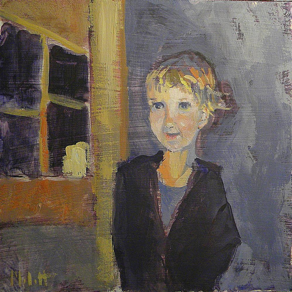 """Portrait Young Girl Daily Oil Painting"" original fine art by Heidi Malott"