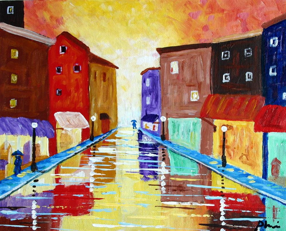 """Summer Rain"" original fine art by Bob Phillips"