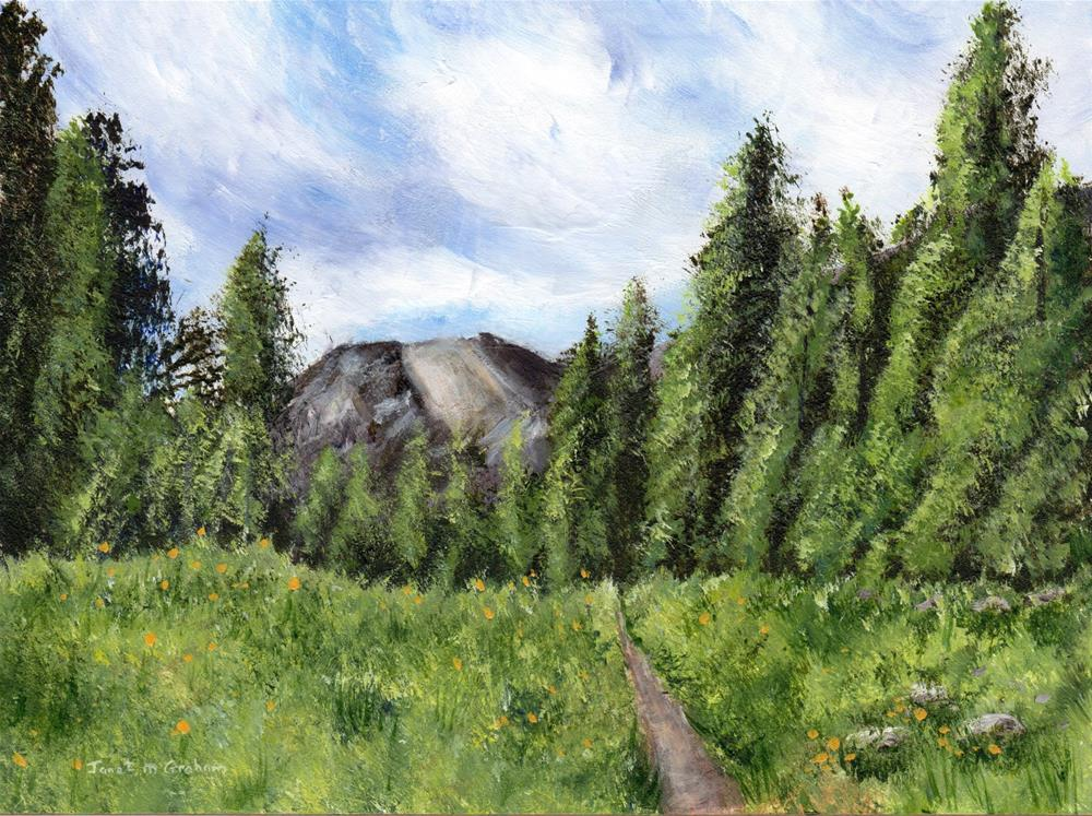 """""""Path to the Mountain"""" original fine art by Janet Graham"""