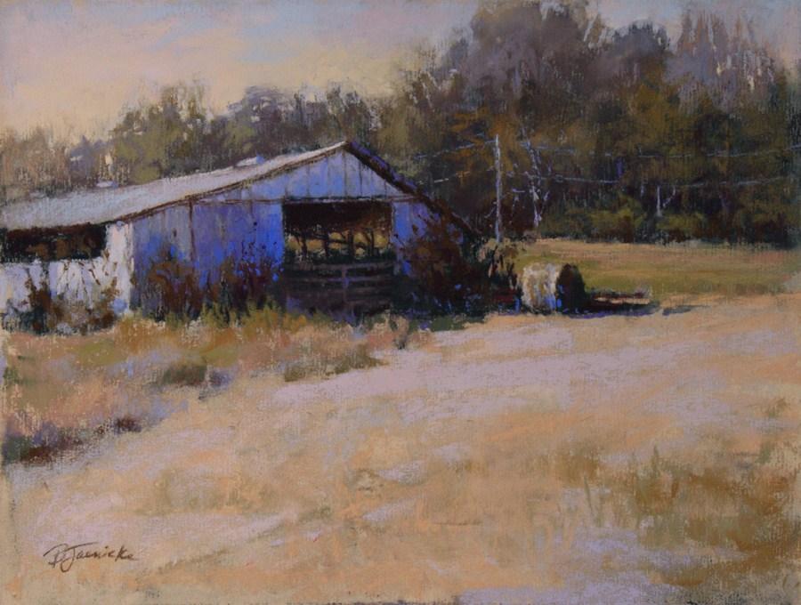 """One More Hay Bale"" original fine art by Barbara Jaenicke"