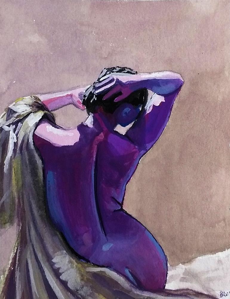 """""""Study in Purple"""" original fine art by Brandy Woodford"""