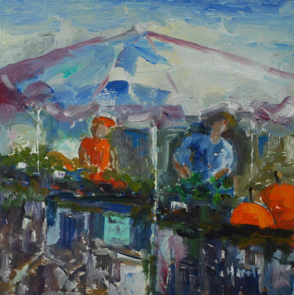 """""""Farmer's Market, Charleston"""" original fine art by Deborah Harold"""