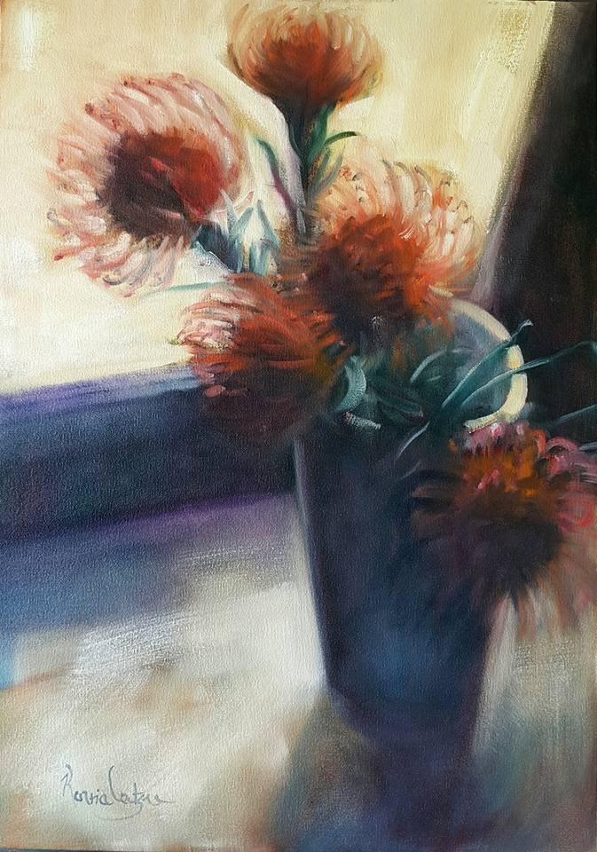 """Needles and pins"" original fine art by Rentia Coetzee"
