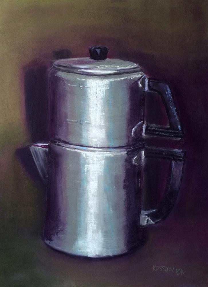 """Vintage Mirro Dripolator"" original fine art by Cristine Kossow"
