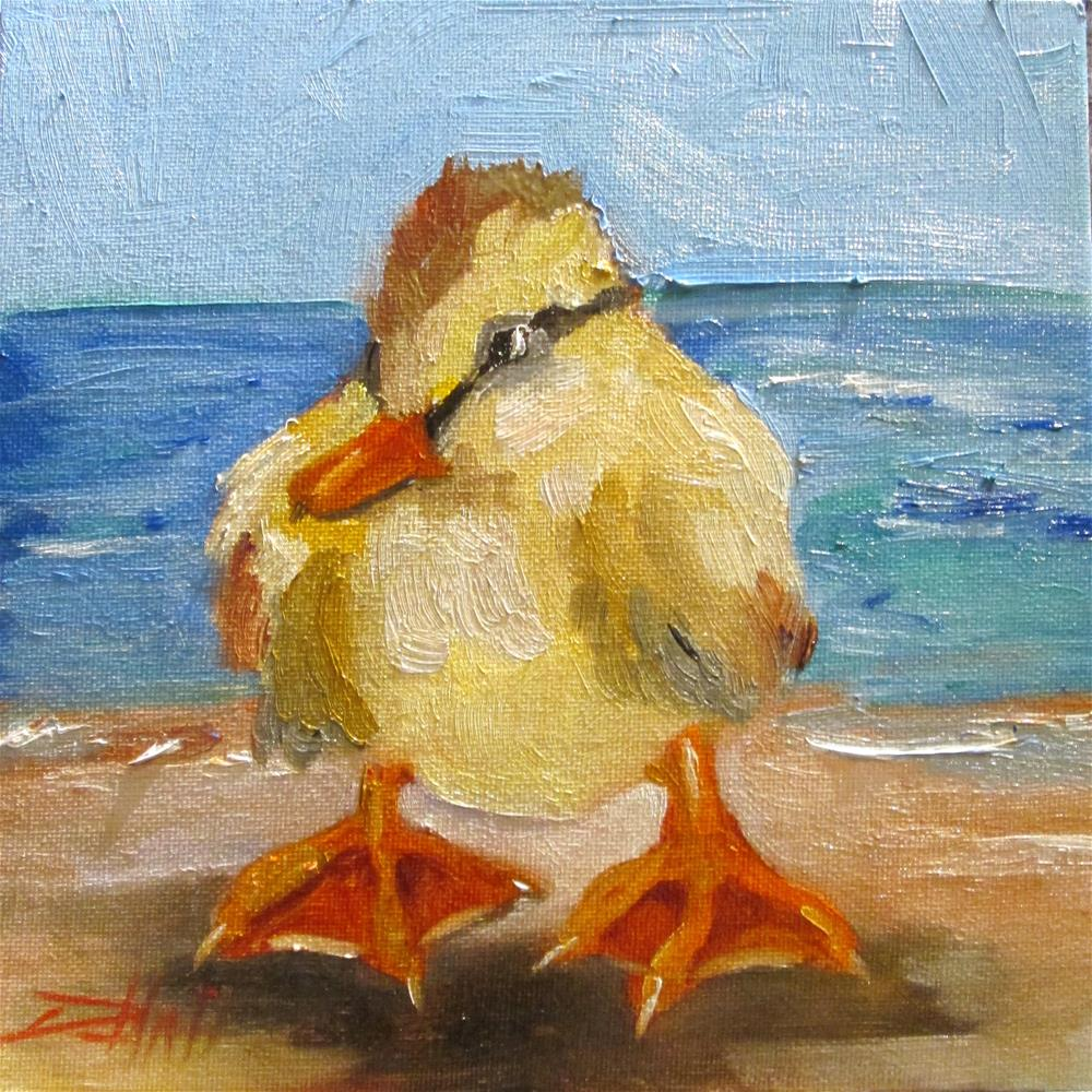 """Baby Duck"" original fine art by Delilah Smith"