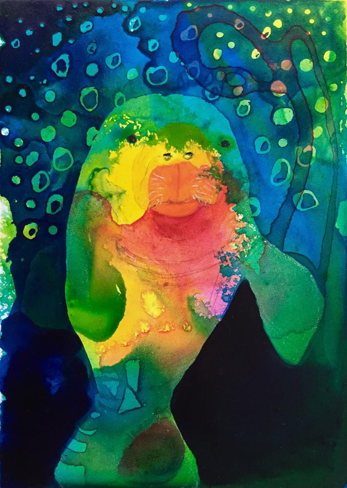 """#14 Floating Free"" original fine art by Silke Powers"