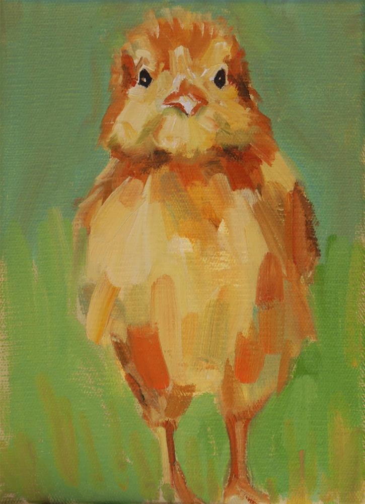 """chicken stand"" original fine art by Carol Carmichael"