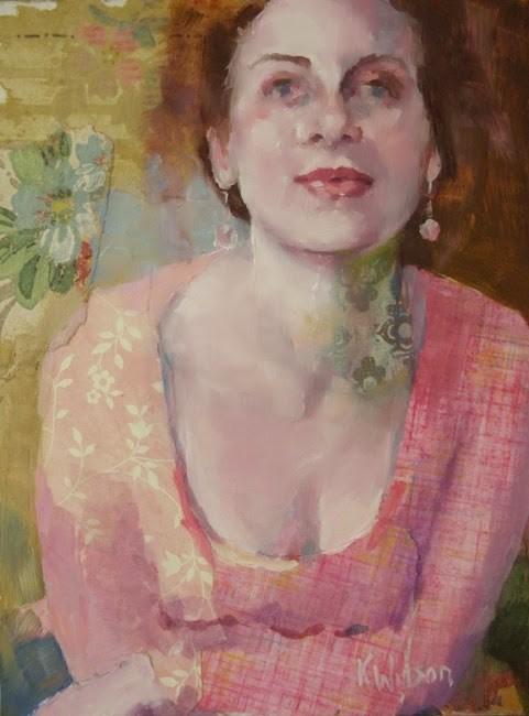 """Pink of the Heart"" original fine art by Katie Wilson"