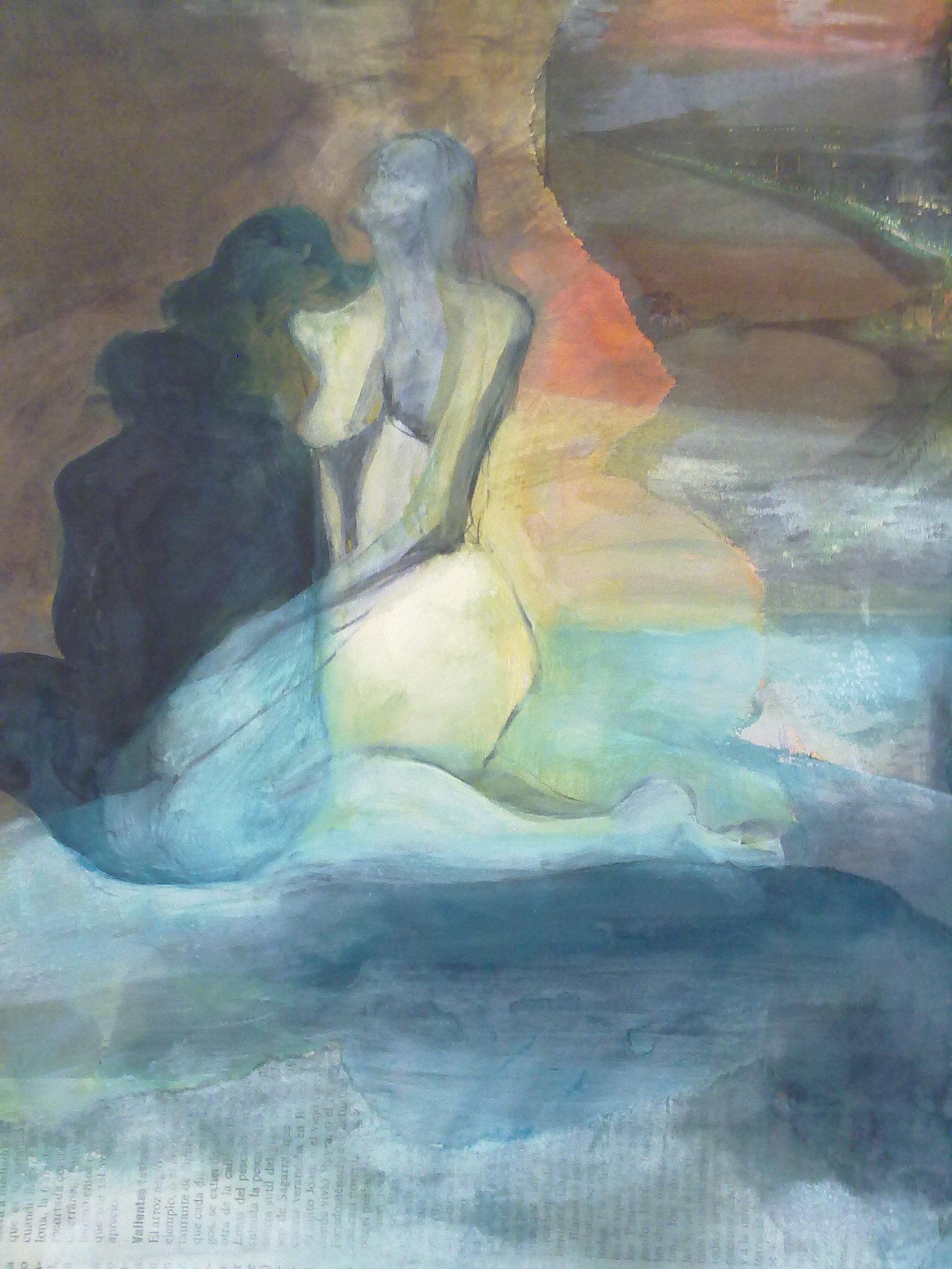 """Nude"" original fine art by Monica Pinotti"