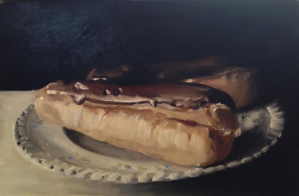 """Chocolate Eclairs"" original fine art by James Coates"