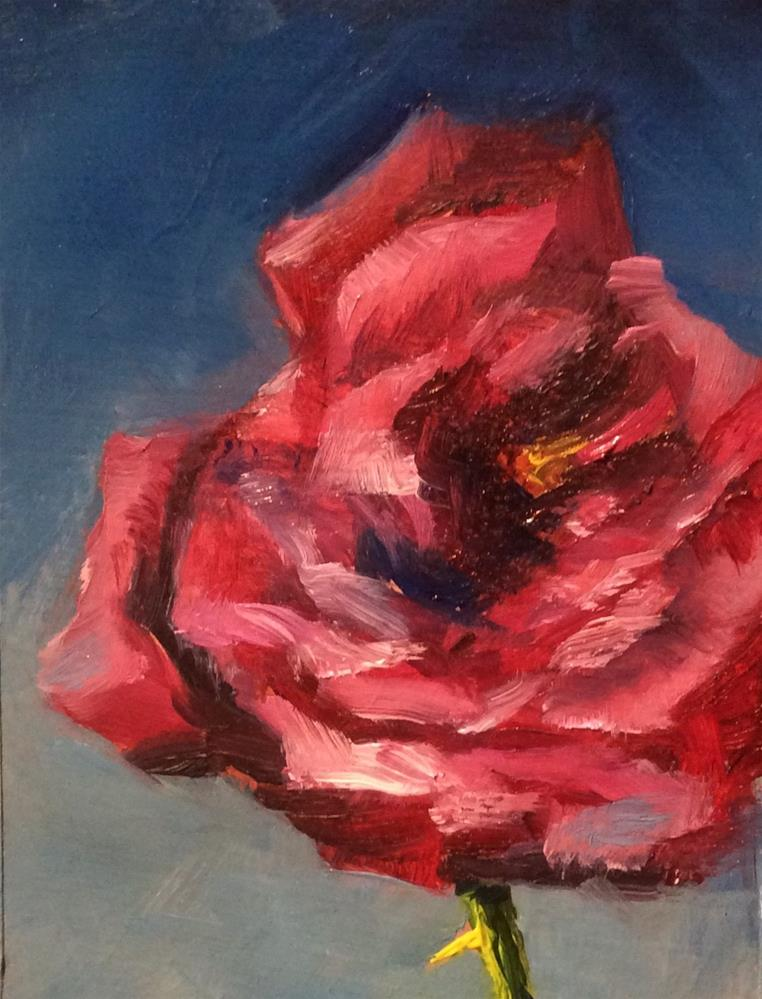 """Mini Rose"" original fine art by Jenny Kinberg"