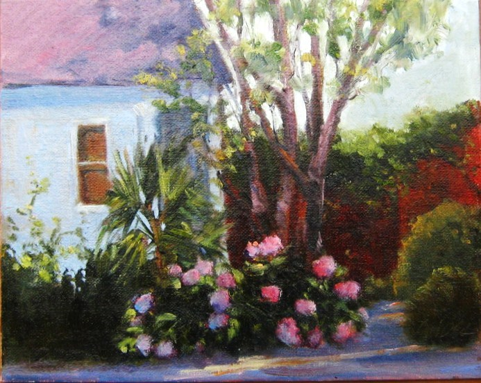 """""""Wing Haven Garden, Charlotte, NC"""" original fine art by Connie Snipes"""