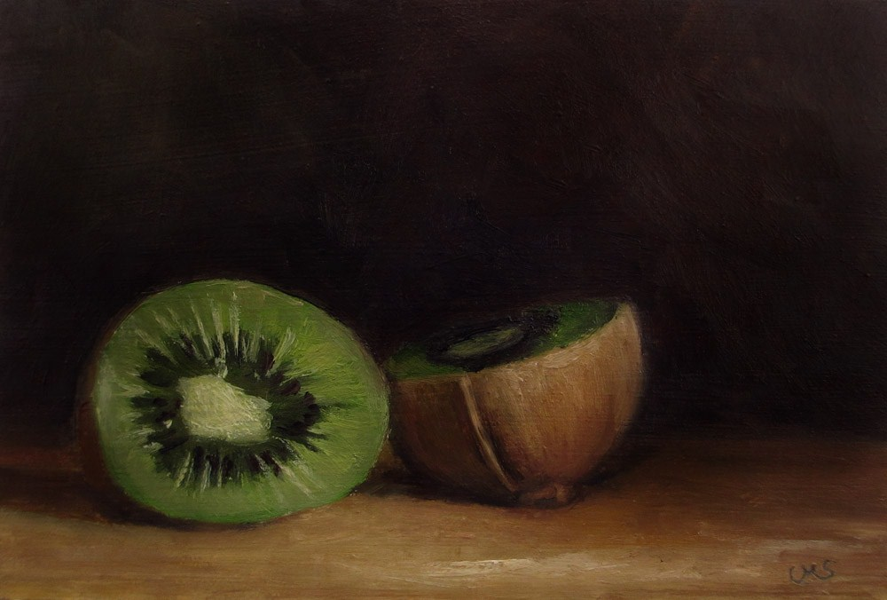 """Kiwi"" original fine art by Ulrike Miesen-Schuermann"