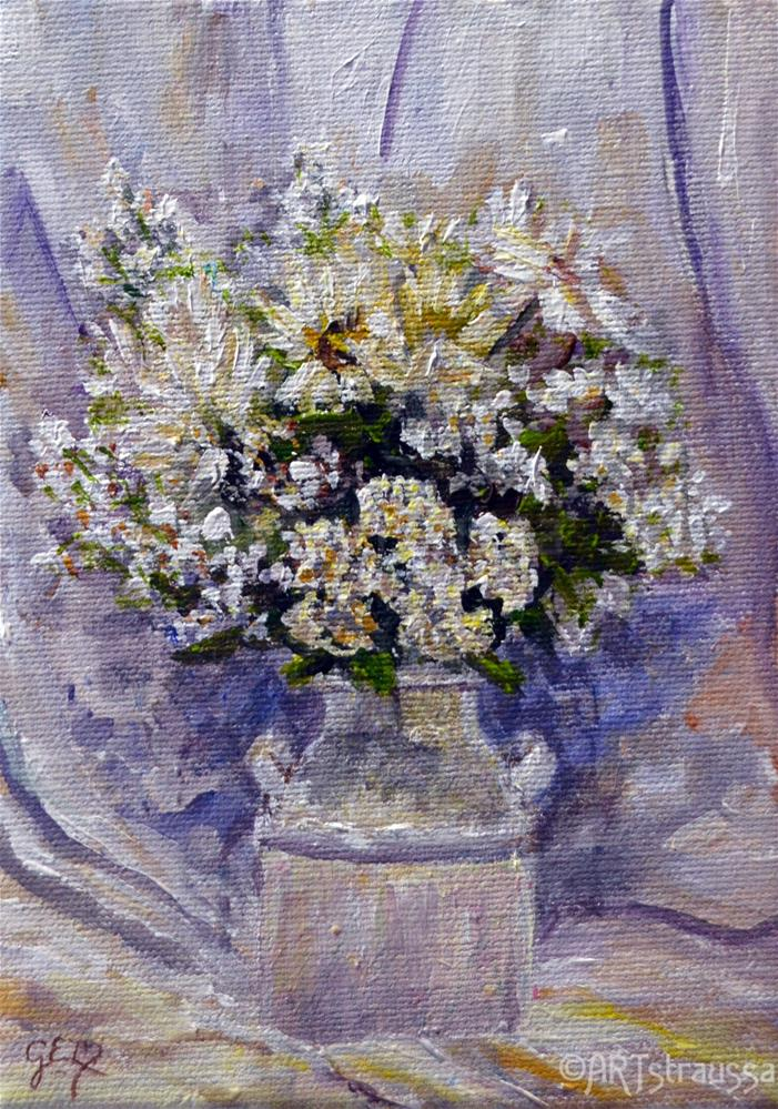 """Bouquet De Blanche (Charity)"" original fine art by Gloria Ester"