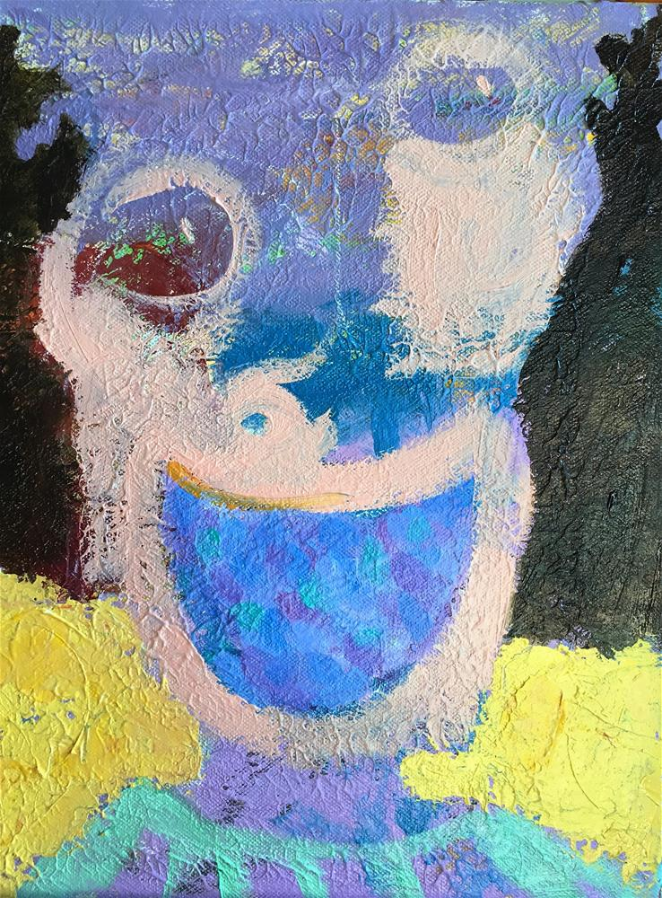"""Blackberry Pie Smile"" original fine art by Tracy Wise"