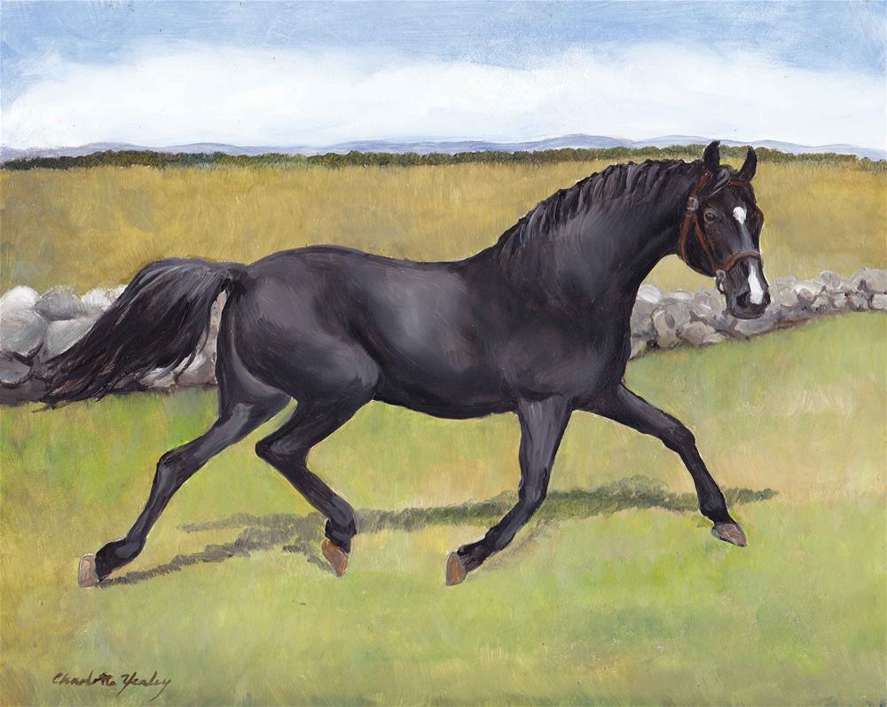 """Red Eye the Civil War Horse"" original fine art by Charlotte Yealey"