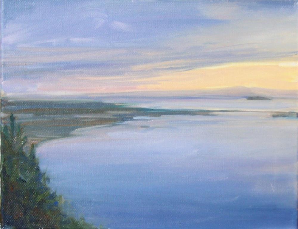 """Blanchard Mt. Light,seascape,oil on canvas,9x12,price$500"" original fine art by Joy Olney"