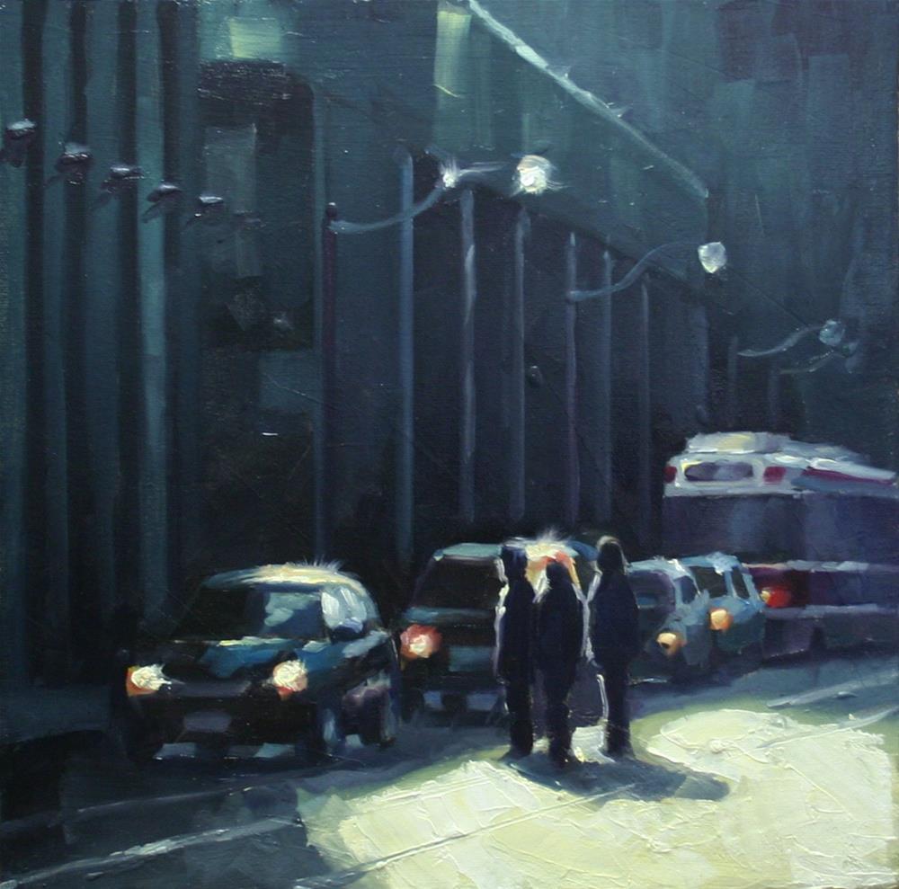 """Late Afternoon Shadows, Queen Street"" original fine art by Catherine Jeffrey"