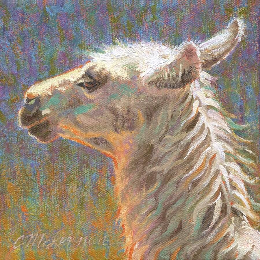 """Cria"" original fine art by Connie McLennan"