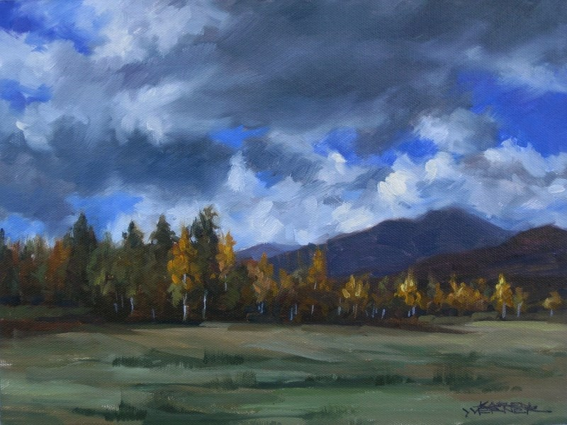 """Aspens"" original fine art by Karen Werner"