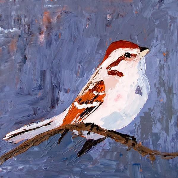 """Tree Sparrow"" original fine art by Anna Vreman"