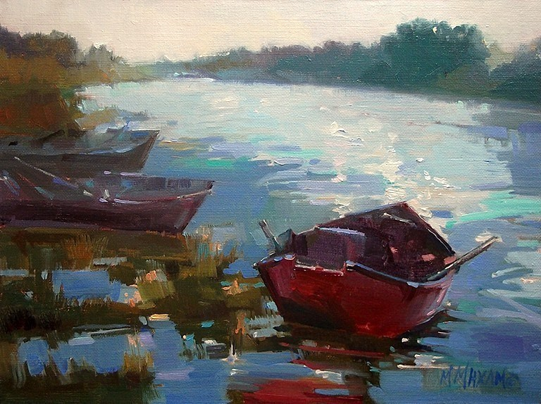 """Trio"" original fine art by Mary Maxam"