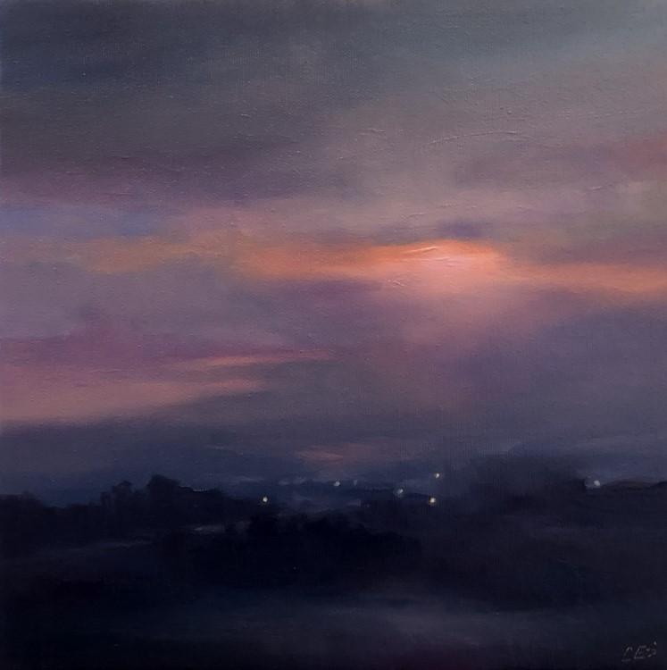 """Farm Lights Along the Way"" original fine art by Christine E. S. Code"