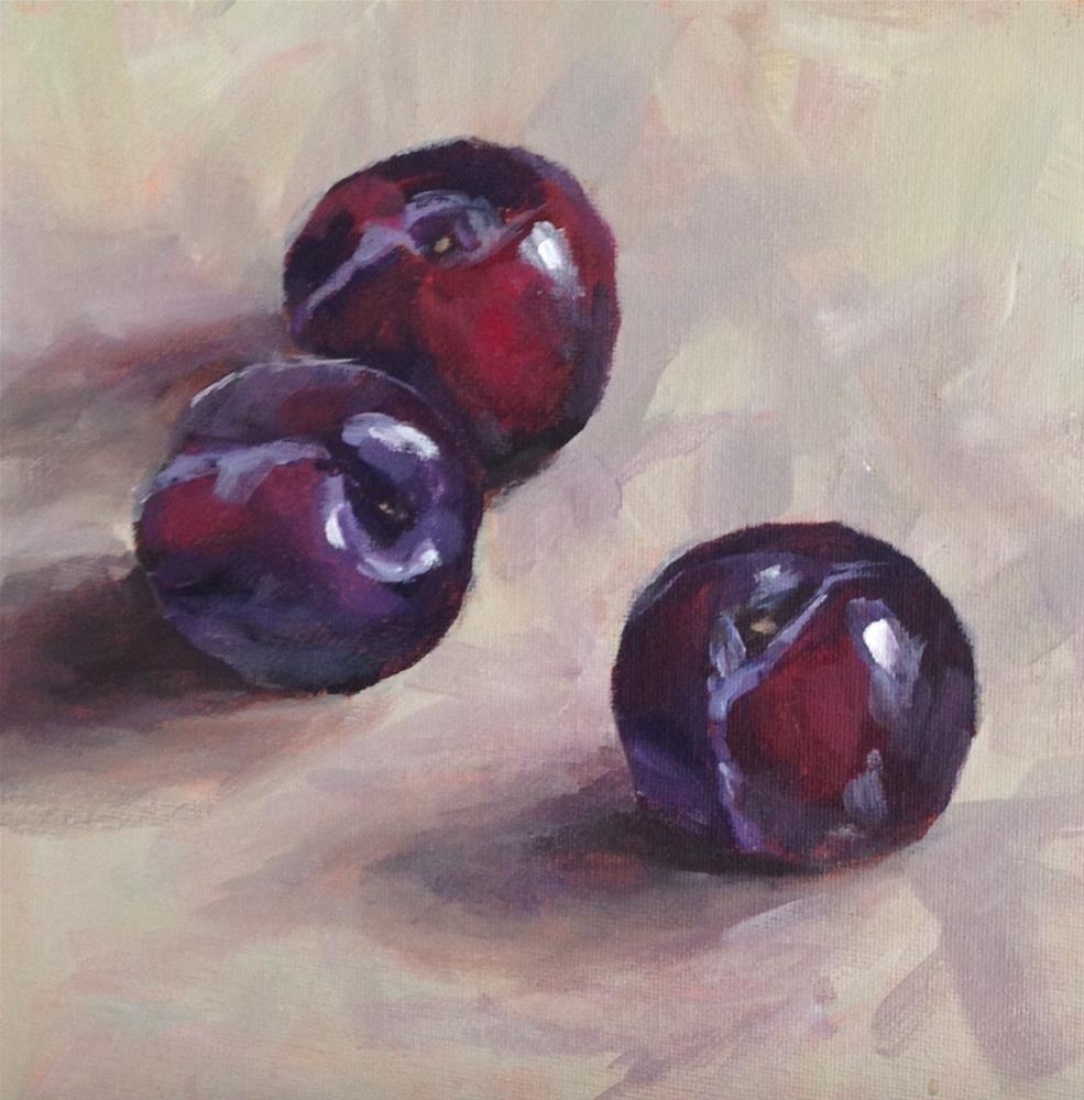 """Plums"" original fine art by Shannon Bauer"