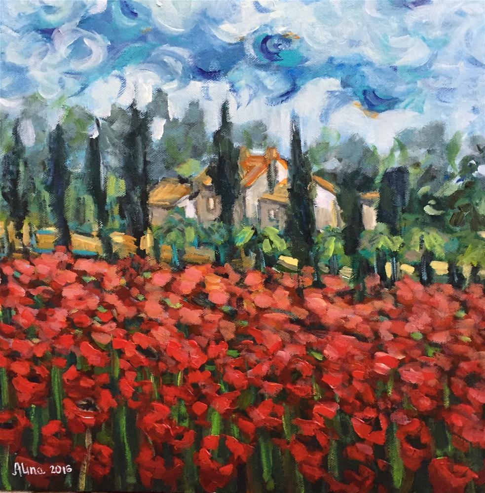 """""""Poppies"""" original fine art by Alina Vidulescu"""
